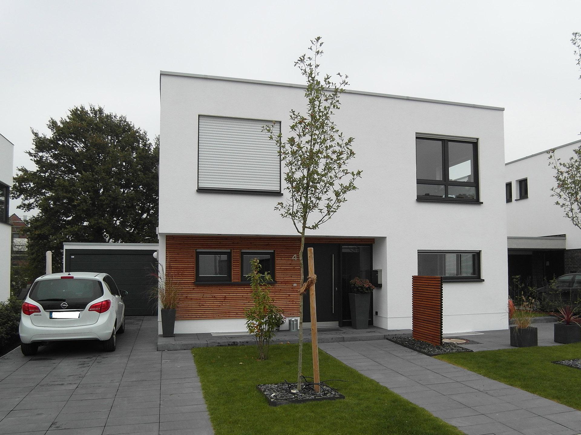 Knue stening massivhaus gmbh referenzen for Einfamilienhaus flachdach